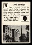 1951 Topps #71   Joe Dudeck Back Thumbnail