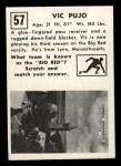 1951 Topps #57  Vic Pujo  Back Thumbnail