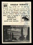 1951 Topps #69  Arnold Burwitz  Back Thumbnail