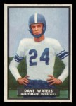 1951 Topps #58  Dave Waters  Front Thumbnail