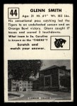 1951 Topps #44   Glenn Smith Back Thumbnail