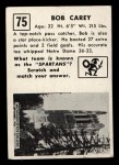 1951 Topps #75  Bob Carey  Back Thumbnail