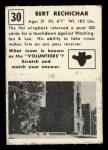 1951 Topps #30   Bert Rechichar Back Thumbnail