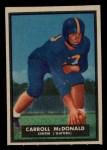 1951 #66  Carroll McDonald  Front Thumbnail