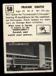 1951 Topps #50   Frank Smith Back Thumbnail