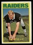 1972 Topps #86   Jim Otto Front Thumbnail