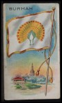 1911 Flags of All Nations T59 #22 REC  Burmah Front Thumbnail