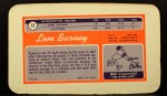 1970 Topps Super #12   Lem Barney Back Thumbnail