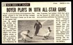 1964 Topps Giants #57   Ken Boyer  Back Thumbnail