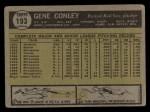1961 Topps #193   Gene Conley Back Thumbnail