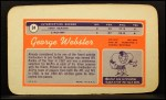 1970 Topps Super #34  George Webster    Back Thumbnail