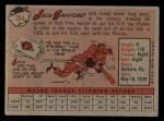 1958 Topps #264  Jack Sanford  Back Thumbnail