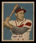1949 Bowman #201  Sibby Sisti  Front Thumbnail