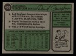 1974 Topps #435   Dave Concepcion Back Thumbnail