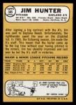 1968 Topps #385   Catfish Hunter Back Thumbnail