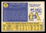 1970 Topps #39   Mike Nagy Back Thumbnail