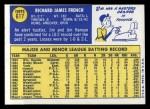 1970 Topps #617   Jim French Back Thumbnail