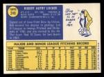 1970 Topps #249  Bob Locker  Back Thumbnail