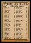 1968 Topps #5  1967 NL HR Leaders  -  Hank Aaron / Willie McCovey / Ron Santo / Jim Wynn Back Thumbnail