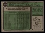 1974 Topps #393   Orlando Pena Back Thumbnail
