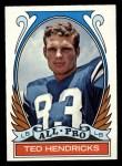 1972 Topps #281  All-Pro  -  Ted Hendricks Front Thumbnail