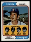 1974 Topps #379  Rangers Leaders    -  Billy Martin / Art Fowler / Frank Lucchesi / Jackie Moore / Charlie Silvera Front Thumbnail