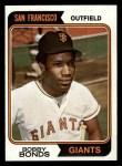 1974 Topps #30  Bobby Bonds  Front Thumbnail