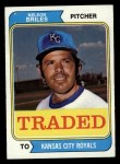 1974 Topps Traded #123 T  Nelson Briles Front Thumbnail