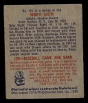 1949 Bowman #201  Sibby Sisti  Back Thumbnail