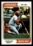 1974 Topps #195  Carlos May  Front Thumbnail