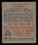 1949 Bowman #106   Jake Early Back Thumbnail