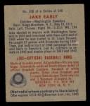 1949 Bowman #106  Jake Early  Back Thumbnail