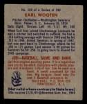1949 Bowman #189   Earl Wooten Back Thumbnail