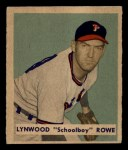 1949 Bowman #216  Schoolboy Rowe  Front Thumbnail