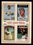 1974 Topps #6  Hank Aaron Special 70-73  -  Hank Aaron Front Thumbnail