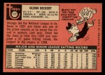 1969 Topps #171   Glenn Beckert Back Thumbnail