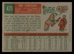 1959 Topps #471   Tom Sturdivant Back Thumbnail