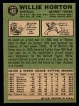 1967 Topps #465   Willie Horton Back Thumbnail
