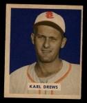 1949 Bowman #188  Karl Drews  Front Thumbnail