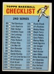 1966 Topps #101 COR Checklist 2  Front Thumbnail