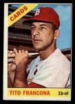 1966 Topps #163  Tito Francona  Front Thumbnail