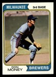 1974 Topps #413   Don Money Front Thumbnail