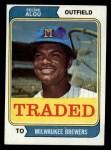 1974 Topps Traded #485 T Felipe Alou  Front Thumbnail
