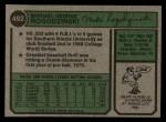 1974 Topps #492   Mike Rogodzinski Back Thumbnail
