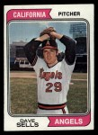 1974 Topps #37  Dave Sells  Front Thumbnail