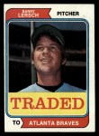 1974 Topps Traded #313 T Barry Lersch  Front Thumbnail