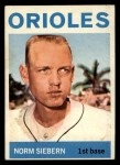 1964 Topps #145   Norm Siebern Front Thumbnail