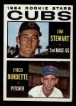 1964 Topps #408  Cubs Rookies  -  Jim Stewart / Fred Burdette Front Thumbnail