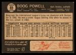 1964 Topps Venezuelan #89   Boog Powell Back Thumbnail