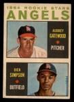 1964 Topps Venezuelan #127   Angels Rookies  -  Dick Simpson / Aubrey Gatewood Front Thumbnail